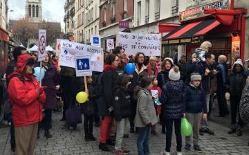 Le 20 février 2016, rue de la République.